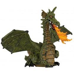 Dragón Alado Verde con Fuego - Papo