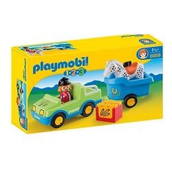 Mi Coche con Remolque para Caballos - Playmobil 1.2.3