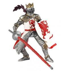 Rey con escudo dragón rojo - Papo