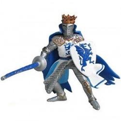 Rey con escudo dragón azul - Papo