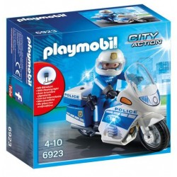 Policía con Moto y Luces Led - Playmobil