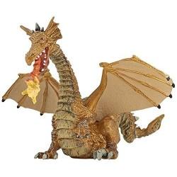 Dragón Dorado con Fuego - Papo