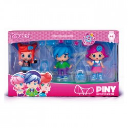 Pinypon PINY Girls with Boy (3 Uds.) - Muñecas