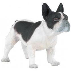 Bulldog francés blanco y negro - Papo