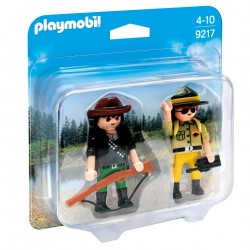Duo Pack Ranger y Cazador Furtivo - Playmobil