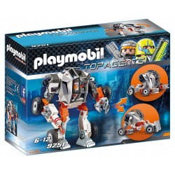Agente General con Robot - Playmobil