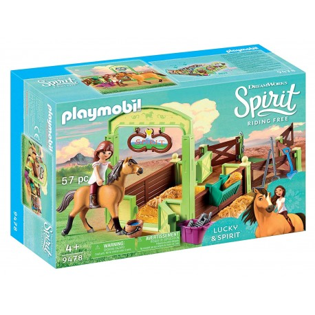 Establo Lucky y Spirit - Playmobil