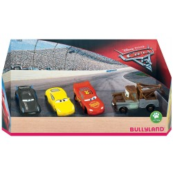 Pack 4 Figuras Cars 3 en Caja Regalo
