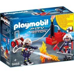 Bomberos con Bomba de Agua - Playmobil