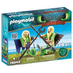 Dragons: Chusco y Brusca con Traje Volador - Playmobil