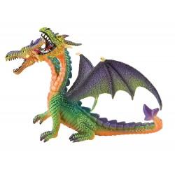 Dragón Verde 2 Cabezas - Bullyland