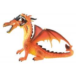 Dragón Naranja 2 Cabezas - Bullyland