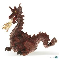 Dragón Rojo con Fuego - Papo