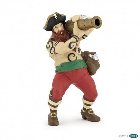 Pirata con cañón - Papo