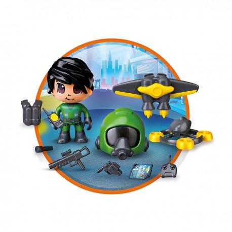 Pack Paracaidista & Jet Pinypon Action