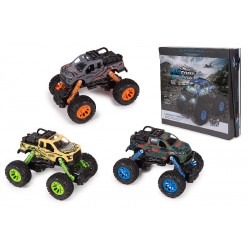 Coches BIG FOOT Metal Luces + Sonidos (12 Uds.)