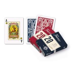 Baraja Poker Español 55 Cartas en estuche de cartón Azul