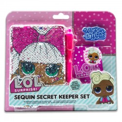 LOL Surprise ! Sequin Secret Keeper set . Diario secreto lentejuelas