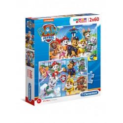 Puzzle Patrulla Canina 2x60 Piezas.- Super Color