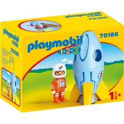 1.2.3. Astronauta con Cohete - Playmobil