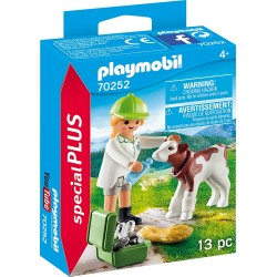 Veterinaria con Ternero - Playmobil
