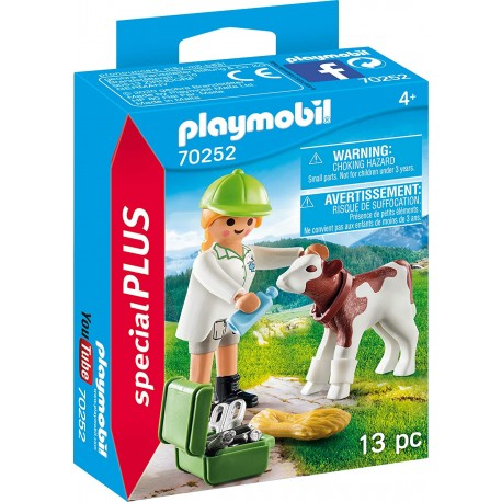 Veterinaria con Ternero - Playmobil