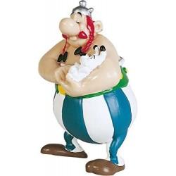 Figura Obelix con Idefix - Asterix