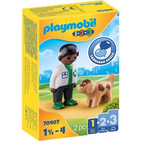 Veterinario con Perro - Playmobil