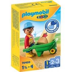 Obrero con Carretilla - Playmobil