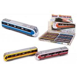 Tren Metro Metal Luces y Sonido Expositor (12 Uds.)