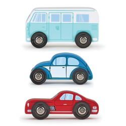 Conjunto 3 automóviles de Madera - Isiplay PAPO