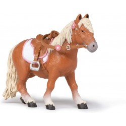 Pony con silla de montar - Papo