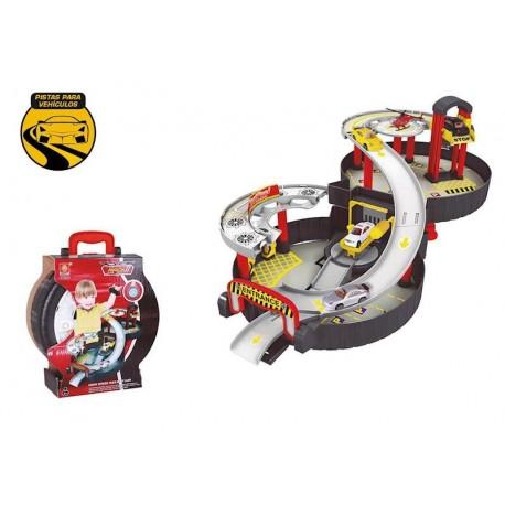 Maletín PARKING con 3 coches y accesorios - Juguetes