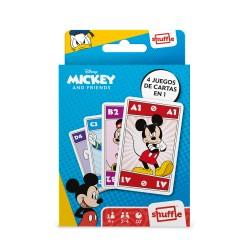 Baraja Mickey and Friends Shuffle 4 juegos en 1 - Cartas